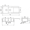 Мойка для кухни гранитная Aquasanita Lira SQL-201AW-501 медь, фото 3