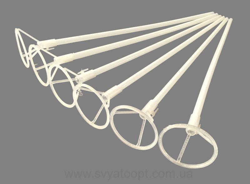 Патичок (палочка) + насадка (розетка)для кулькибілий для фольгованих кульок 550мм*10мм