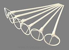 Патичок (палочка) + насадка (розетка) для кульки білий для фольгованих кульок 400мм*8мм