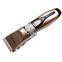Беспроводная машинка для стрижки волос триммер с керамическими ножами GEMEI GM-555 PRO + 2 аккумулятора