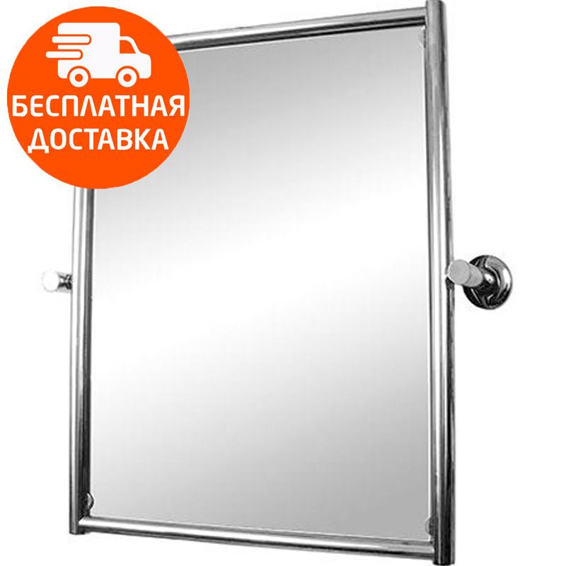 Зеркало поворотное в раме из полированной нержавеющей стали 40х50 см VERNANDI 8001