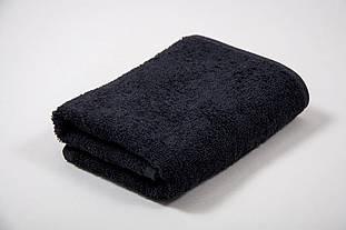 Рушник махровий AISHA (Узбекистан) 40*70 чорне без бордюру