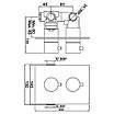 Смеситель для ванны скрытого монтажа с термостатом Jaquar Florentine FLR-CHR-5671HF хром, фото 3