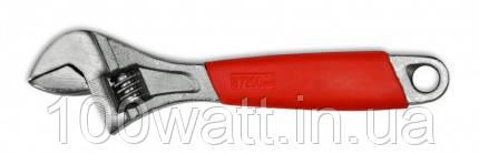 """Ключ розвідний зі шкалою з хромової рукояткою 250 мм """"TECHNICS"""" 49-232"""