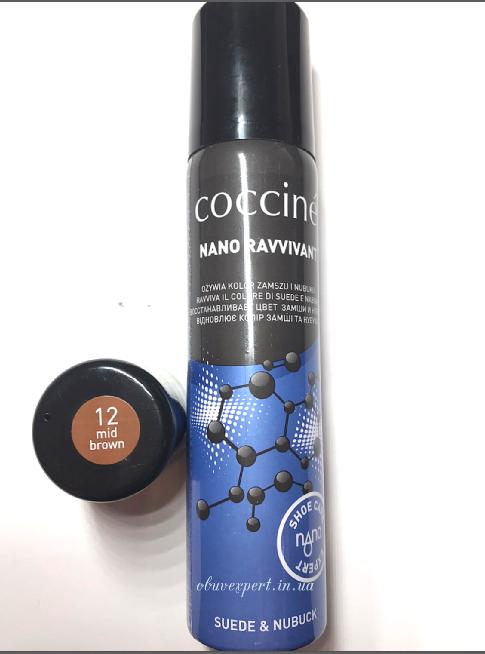 Coccine  NANO REVVIVANT Восстанавливающий спрей для нубука и замши, цв. светло-коричневый (12)