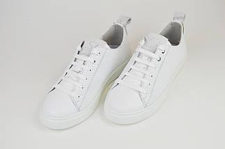 Кеды перфорированные Selesta 899 белые, фото 3