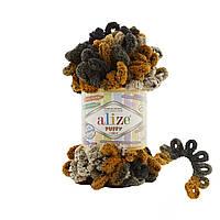 Alize Puffy Color (Алізе Пуффи Колор) № 6082 (Пряжа, нитки для в'язання руками)