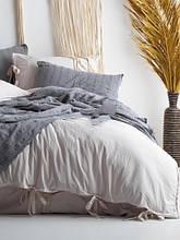 Комплект постельного белья из вареного хлопка размер евро LIMASSO NATURAL CREAM BAGCIK
