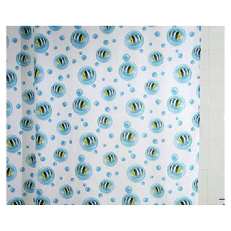 Шторка для ванны 180х200 см Bisk Fish 00835