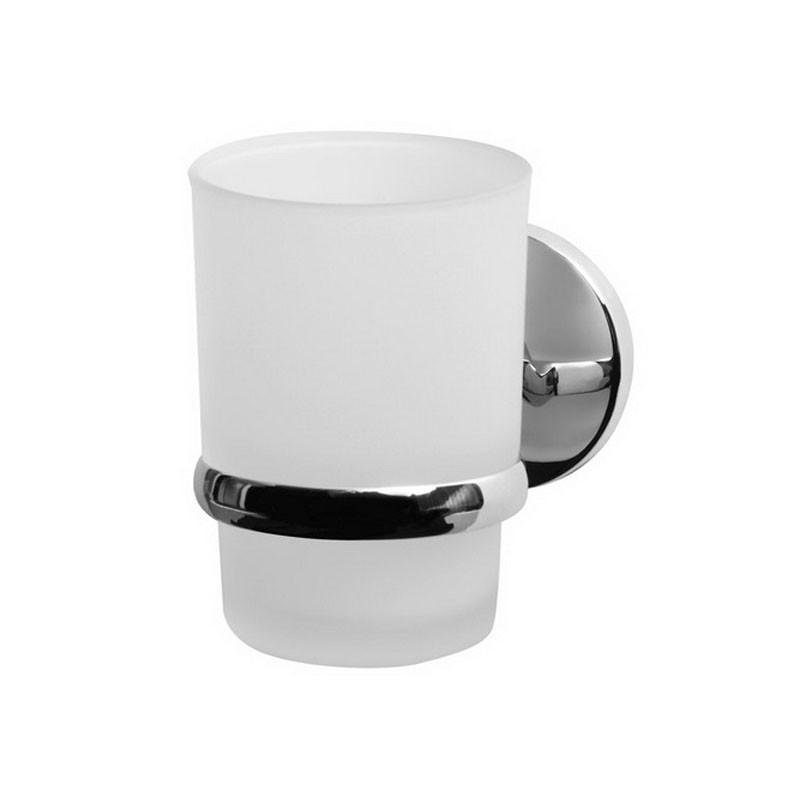 Стакан для ванны настенный Bisk Chroma 01426 хром