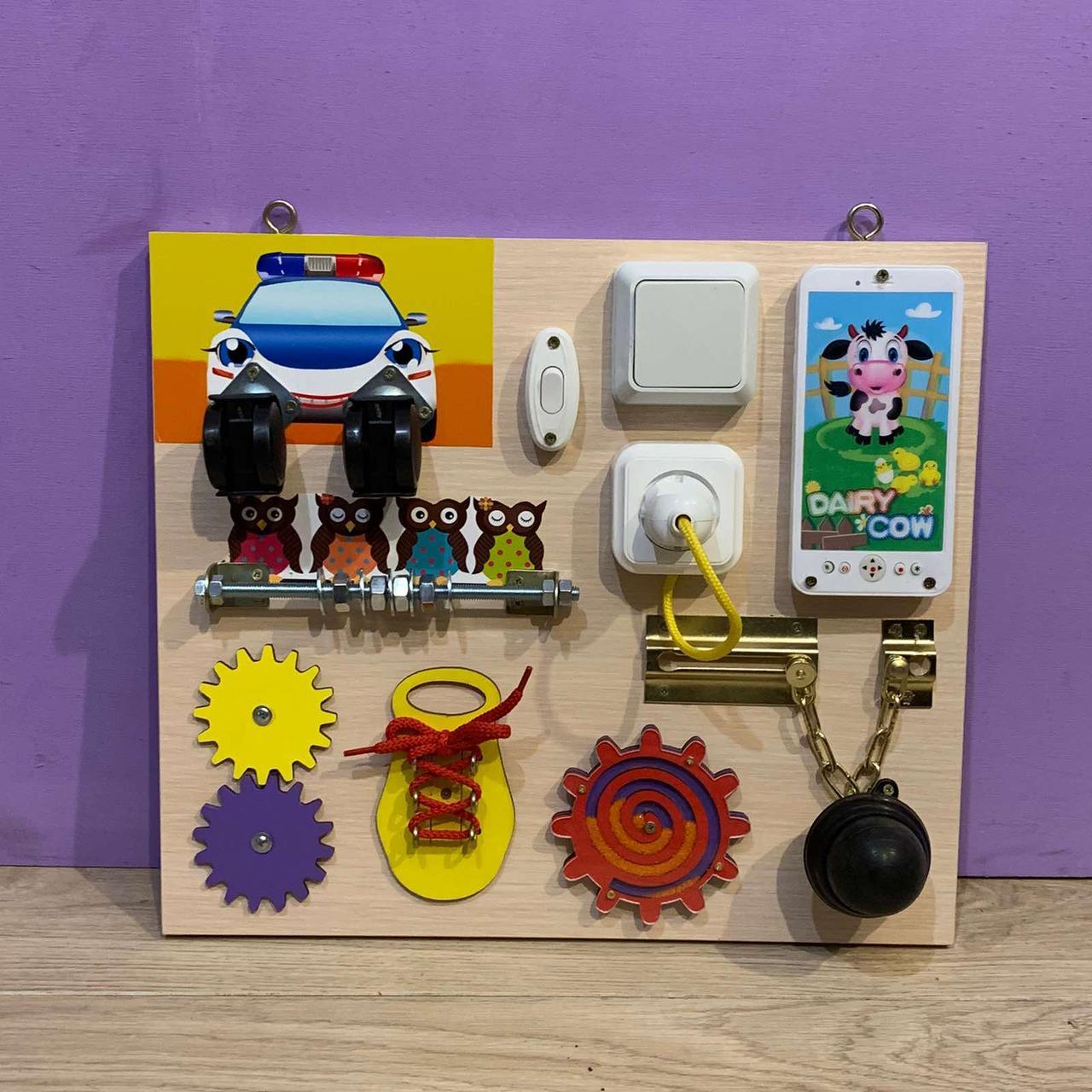 Бизиборд развивающая игра для самых маленьких busy board 35*40 см