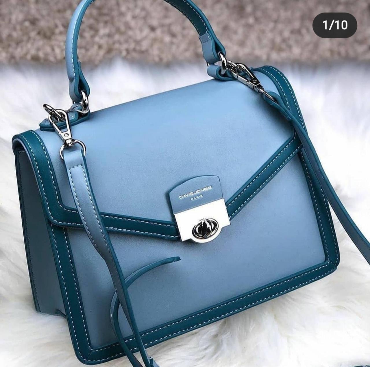 Небольшая женская сумка David Jones, синяя / клатч Дэвид Джонс / сумка жіноча