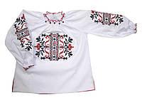 Вышиванка Казкова квітка детская для девочки 152, белый