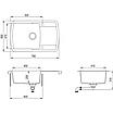 Мойка для кухни гранитная Aquasanita Lira SQL-101AW-501 медь, фото 3