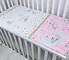 Сменная детская постель Asik Единороги и звёзды розовые, 3 предмета, фото 2