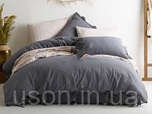 Комплект постельного белья из вареного хлопка размер евро LIMASSO NATURAL GREY BAGCIK