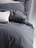 Комплект постельного белья из вареного хлопка размер евро LIMASSO NATURAL GREY BAGCIK, фото 2