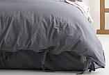 Комплект постельного белья из вареного хлопка размер евро LIMASSO NATURAL GREY BAGCIK, фото 3