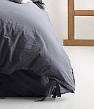 Комплект постельного белья из вареного хлопка размер евро LIMASSO NATURAL GREY BAGCIK, фото 4