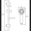 Душевой набор со штангой и мыльницей Invena Fresco AU-86-NAT хром, фото 2