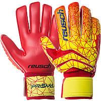 Перчатки вратарские с защитными вставками на пальцы REUSCH, PVC, р-р 9-10, красный (FB-915B-(rd))