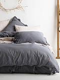 Комплект постельного белья из вареного хлопка размер евро LIMASSO NATURAL GREY BAGCIK, фото 6