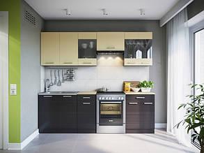 Пряма кухня МАРТА 2400 мм венге темний/венге світлий