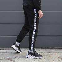 Зимние спортивные штаны мужские чёрные Адидас adidas
