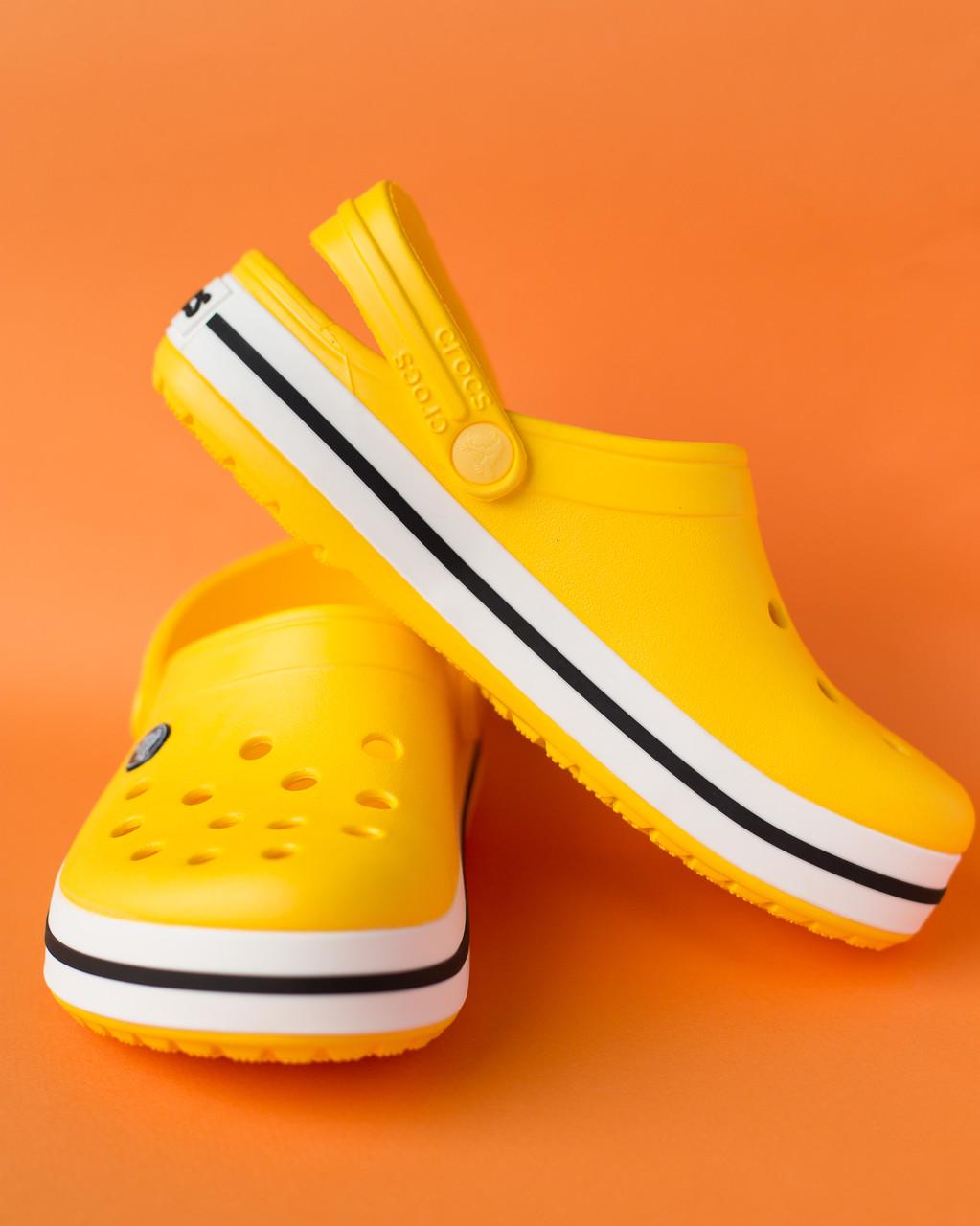 "Кроксы желтые ""Сrocsband"""