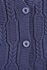 В'язаний жилет кольору джинс для повних Неллі, фото 3