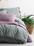 Комплект постельного белья из вареного хлопка размер евро LIMASSO NATURAL GREEN BAGCIK, фото 2