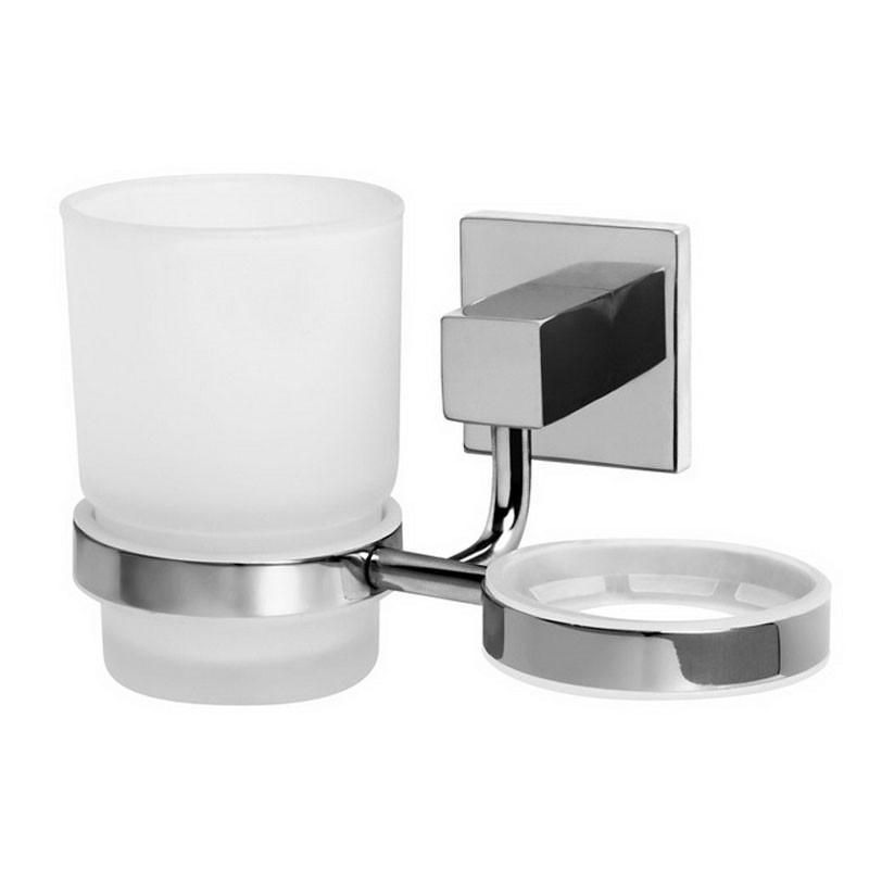 Стакан для ванны двойной Bisk Arktic 01466 хром