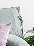Комплект постельного белья из вареного хлопка размер евро LIMASSO NATURAL GREEN BAGCIK, фото 5