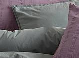 Комплект постельного белья из вареного хлопка размер евро LIMASSO NATURAL GREEN BAGCIK, фото 6