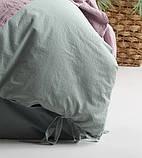Комплект постельного белья из вареного хлопка размер евро LIMASSO NATURAL GREEN BAGCIK, фото 7