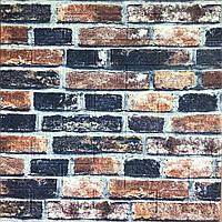 3д панель стіновий декоративний Цегляна кладка Лофт (самоклеючі 3d панелі цегла для стін) 700x770x5 мм, фото 1