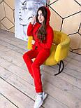 Женский теплый комбинезон с капюшоном на флисе (в расцветках), фото 7
