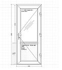 Металопластикові вхідні двері, WDS 60 мм, фото 2