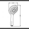 Ручной душ Invena Larisa AS-03-002 хром/белый, фото 2