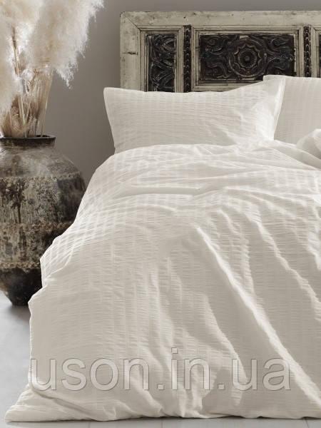 Комплект постельного белья из сатина размер евро LIMASSO SNOW WHITE VOGUE