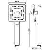 Ручной душ квадратный 95 мм 1 режим Jaquar Maze HSH-CHR-1655 хром, фото 2