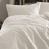 Комплект постельного белья из сатина размер евро LIMASSO SNOW WHITE VOGUE, фото 3