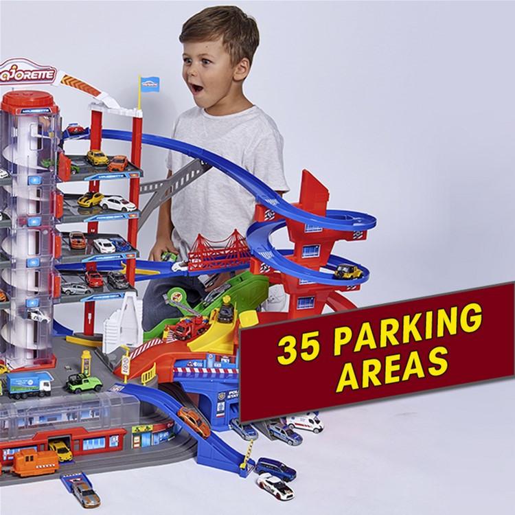 Большой паркинг набор с машинками для мальчиков Majorette Гараж Супергород 7 уровней 6 метал машинок 2059989