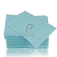 Стоматологические салфетки нагрудники непромокаемые, 500 шт, 45х32см, голубые