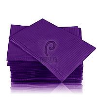 Непромокаемые салфетки на рабочий стол мастера маникюра, 125 шт, 45х32см, фиолетовые