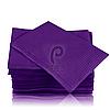 Стоматологические салфетки нагрудники непромокаемые, 500 шт, 45х32см, фиолетовые