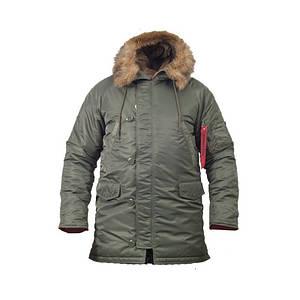 Куртка зимова аляска slim fit n-3b Olive
