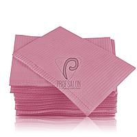 Стоматологические салфетки нагрудники непромокаемые, 500 шт, 45х32см, светло-розовые