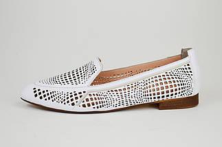 Балетки с острым носком Evromoda 010782 Белые, фото 2