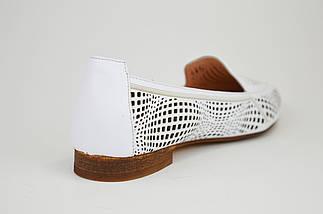 Балетки с острым носком Evromoda 010782 Белые, фото 3